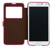 Funda view flip Samsung Galaxy S5 rosa Anymode (tapa)