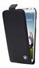 Bmw Funda Flipper Piel Negre Logo Metal Samsung Galxy S4 I9500  BMW