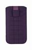 Classic Y Elegance Funda Pocket XL Nabuk Púrpura Cuadros cierre Pull-up Classic & Elegance