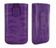 Classic Y Elegance Funda Pocket L Púrpura Satinada con Trabilla y cierre Pull-up Classic & Elegance