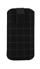 Classic Y Elegance Funda Pocket L Nabuk Negro Cuadros cierre Pull-up Classic & Elegance