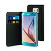 Fc Barcelona Funda Folio Negra FCB Plata Función Soporte Samsung Galaxy S6 FCB
