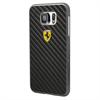 Carcasa Fibra de Carbono Negra Samsung Galaxy S6 Ferrari