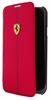 Funda Booklet Efecto Carbono Rojo Samsung Galaxy S5 Ferrari