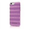 Funda TPU Stripes Efecto 3D Lila Apple iPhone 7 Guess