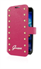 Funda Booklet Colección Studded Rosa Samsung Galaxy S5 Guess