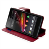 Made For Xperia Funda Slim Folio Funcion Soporte Roja Sony Xperia Z
