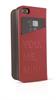 Funda Folio Roja Logo metal Apple iPhone 5/5s Mini