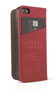 "Funda Folio Roja Logo metal A pple iPhone 6 5.5"" Mini"
