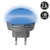 Muvit Life Transformador USB Dual LED Azul 2.1A muvit Life