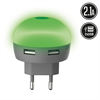 Muvit Life Transformador USB Dual LED Verde 2.1A muvit Life