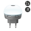 Muvit Life Transformador USB Dual LED Blanco 2.1A muvit Life