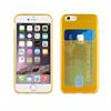 Muvit Life Funda Minigel Naranja Fluor con ranura para tarjetas Pass Pass Apple iPhone 6/6S muvit life