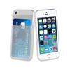 Muvit Life Funda Minigel Transparente con ranura para tarjetas Apple iPhone 5S/SE muvit life