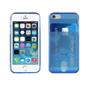 Muvit Life Funda Minigel Azul Flour con ranura para tarjetas Pass Pass Apple iPhone 5S/SE muvit life