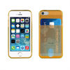 Muvit Life Funda Minigel Naranja Fluor con ranura para tarjetas Pass Pass Apple iPhone 5S/SE muvit life