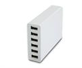 Muvit Transformador USB Negro 6 puertos 10A con cable extraíble MUvit