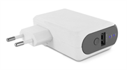Muvit Transformador USB 1A + Batería Externa 2000mAh Negro muvit
