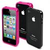 Pack 2 Fundas iBelt (Bumper) Rosa Negra Apple iPhone 4 4S (protector delantero trasero) Muvit