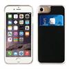 Muvit Carcasa Transparente + Tarjetero Negro vertical Apple iPhone 7/6S/6 muvit