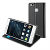 Muvit Funda Folio Stand Negra Funcion Soporte y Tarjetero Huawei P9 Lite muvit
