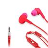 Muvit Auriculares Estéreo Cable Plano Fresa/Rosa 3,5mm con micro y botón compatibilidad (almohadillas nara