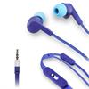Muvit Auriculares Estéreo Cable Plano Azul/Azul 3,5mm con micro y botón compatibilidad (almohadillas lila/