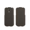 Funda iFlip Negra + Protector pantalla Samsung Galaxy S4 Mini Muvit
