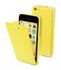 Funda iFlip Amarilla + Protector Pantalla iPhone 5C Muvit