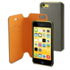 Funda Magic Folio Gris/Naranja iPhone 5C Muvit