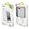 Funda Minigel Fina Glitter Blanca Apple iPhone 5 Muvit