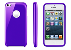 Funda Minigel Lila Apple iPhone Low Cost Muvit