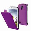 Funda Slim Lila con protector de pantalla Samsung Galaxy S4 Muvit