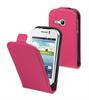 Funda Slim Rosa+Protector Pantalla Samsung Galaxy Young S6310 Muvit
