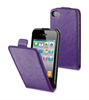 Funda Slim Lila + Protetor Pantalla Apple iPhone 4/4S Muvit