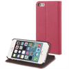 Funda Slim Folio Función Soporte Rosa/Negra Apple iPhone 5/5s Muvit