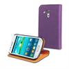Funda Slim Folio Función Soporte Lila/Naranja Samsung Galaxy Trend S7560  Muvit