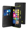 Funda Slim Folio Negra Función Soporte y Tarjetero Nokia Lumia 630 Muvit