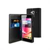 Funda Slim Folio Negra Función Soporte y Tarjetero Acer Liquid Z5 Muvit