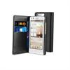 Funda Slim Folio Negra Función Soporte y Tarjetero Huawei Ascend G6 Muvit