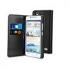 Funda Slim Folio Negra Función Soporte y Tarjetero Huawei G630 Muvit