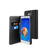Funda Slim Folio Negra Función Soporte y Tarjetero Huawei G750 Muvit