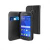 Funda Wallet Folio Negra Función Soporte y Tarjetero Samsung Galaxy Ace Style Muvit
