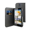 Funda Wallet Folio Negra Función Soporte y Tarjetero Huawei G610 Muvit