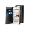 Funda Wallet Folio Negra Función Soporte y Tarjetero Huawei G6 4G Muvit