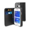Funda Wallet Folio Función Soporte Negra Samsung Galaxy Young 2 Muvit
