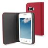 Funda Wallet Folio Función Soporte Rosa/Negra Samsung Galaxy Young 2 Muvit