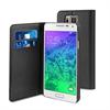 Funda Wallet Folio Función Soporte Negra Samsung Galaxy Alpha Muvit