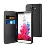 Funda Wallet Folio Función Soporte Negra LG G3 S Muvit