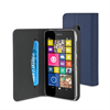 Funda Wallet Folio Azul Oscuro Función Soporte y Tarjetero Nokia Lumia 530 Muvit (carcasa transparen